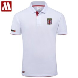 shirt england flag 2021 - High Quality MYDBSH Brand Summer Short Sleeve Polo Shirt Man Fashion Union Flag Embroidery Casual Men's Polo Shirts Cotton Tops 210406