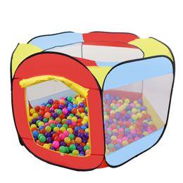 Play Tent Indoor Открытый Easy Folding Kids Ball Pint Портативный всплывающийся всплывающие пьесы Hut Us Stock на Распродаже