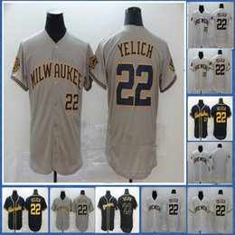 baseball jerseys milwaukee 2021 - Milwaukee 22 Christian Yelich Jersey Blank No Name No Number Top Quality Mens Cool Flex Baseball Jersey