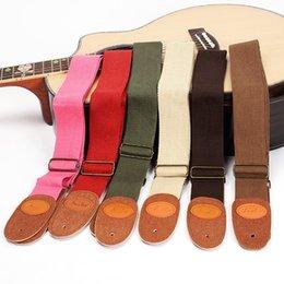 Wholesale Wholesale Guitar Ukulele Strap Universal Soft Cotton 150cm Length Adjustable, Multiple Colors Available