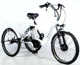 Chaud Blanc 20 pouces d'alliage d'aluminium en aluminium tricycle électrique trois roues ebike en Solde