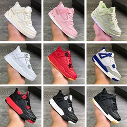 Infant Sail SP 4S IV Childrens Basketball Shoes Bred Royal Blue Toddler Pink JD4 Trainers Pure Money White Boys LS Virgils Ablohing Muslin Black Gum Sneakers on Sale