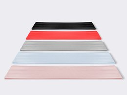 Designer Elastic Headband Fabric For Women Men Pink And Black Striped Hair Bands Head Scarf Headwraps Gifts on Sale