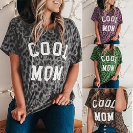Wholesale multi color polka dot shirt resale online - t Shirt Women s Clothing Spring Summer New Letter Short Sleeve Polka Dot Multi Color T shirt