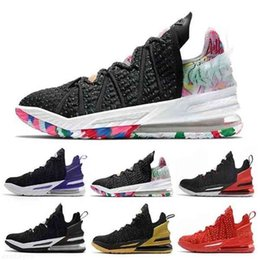 Black Gold White LA James 18 mens basketball shoes Bred University red James Gang 18s trainers outdoor men sports sneakers 40-46 on Sale