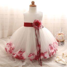 Bebek Kız Çiçek Prenses Elbise 1 2 Yaşında Doğum Günü Partisi Vaftiz Elbise Çocuklar Çocuk Nedime Gelinlik 3-10 Yıl 968 X2