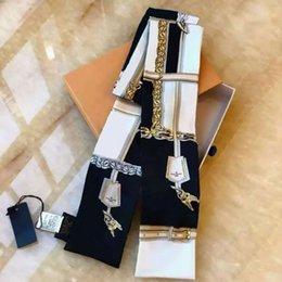 Опт Женские шелковые CRAVAT буква цветок узор женские девушки девочки галстуки галстуки платка сумка украшения модные аксессуары 2021