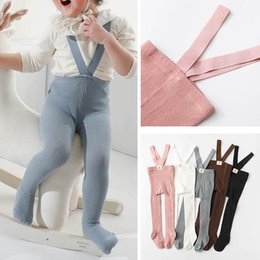 Discount toddler pink overalls Baby Jumpsuits Toddler Rompers Cotton Girls Overalls Boys Pants Leggings Infant Tights Spring Autumn Kids Clothes One Piece Clothing 0-4Y B4703
