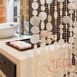 Curtain Natural shells pollution-free curtains Indoor partition Decorative Wind chimes curtains Hotel decoration Door curtains 769 R2 on Sale
