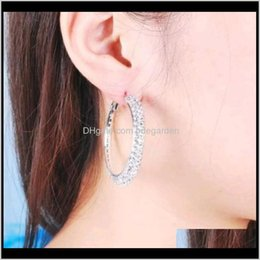 Wholesale basketball wifes for sale - Group buy Hie Jewelry Drop Delivery Plating Sier Color Czech Diamond Big Hoop Basketball Wives Earrings Good Quality Ps0039 I4Uus
