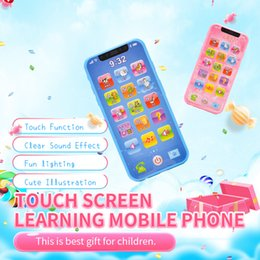 Children simulation mini learning machine touch screen toy mobile phone boy girl baby puzzle children over 3 years old on Sale
