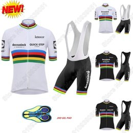 Wholesale Racing Sets World Cycling Clothing Quick Step Jersey Set Julian Alaphilippe Road Bike Suit Maillot Cyclisme Uniform