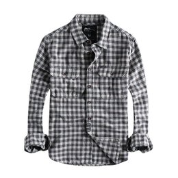 Wholesale flannel shirts for men resale online - Men s Casual Shirts Japanese Harajuku Cotton Flannel Plaid Shirt For Men Urban Boys Long Sleeve Button Up Plus Size