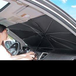 Ingrosso L'ombra del sole dell'automobile per il parabrezza pieghevole ombrellone ombrellone per il parabrezza anteriore per auto, facile da archiviare il veicolo di protezione da UV sole e calore si adatta ai parabrezza di varie dimensioni