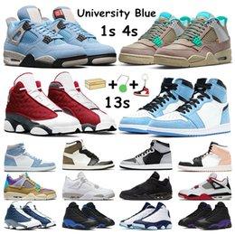 Hyper Royal Men Basketball Shoes 1 1s University Blue Dark Mocha Shadow 2.0 Arctic Orange 4s Taupe Haze 13s Red Flint Court Purple Women sneakers Sports Trainers on Sale