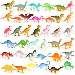Наука Открытие мини-динозавров Модель Детские Образовательные Игрушки Небольшое Моделирование Животных Фигурки Детские Игрушки для мальчика Подарочные Животные на Распродаже