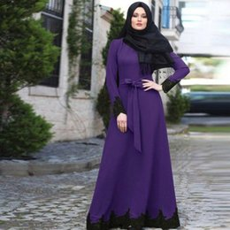 Wholesale turkish muslim clothing for sale - Group buy Ramadan Eid Mubarak Abaya Turkish Hijab Muslim Dress Islam Clothing Abayas For Women Kaftan Dubai Dresses Vestidos Ropa Mujer1