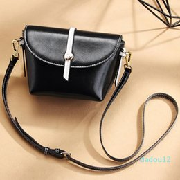 black waist bags for women Australia - High-End Women's Bag Summer Luxury Cowhide Classic Fashion Black Leisure Dating Shopping Bags For Women Shoulder Waist