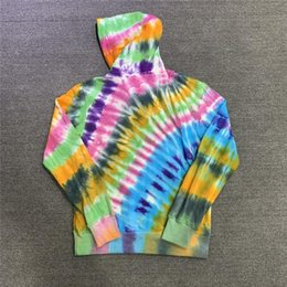 Wholesale man hoodies skeleton resale online - Hooded Tie dyed Travis Scott Jackboys Cactus Keyboard Skeleton Men Hoodies Pullover The Hoodie Quality Hand Jack Women Click Olghi