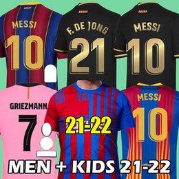 venda por atacado Camisa de futebol 20 21 Barcelona MESSI GRIEZMANN football shirt 2021 ANSU FATI COUTINHO LENGLET DEST soccer jersey
