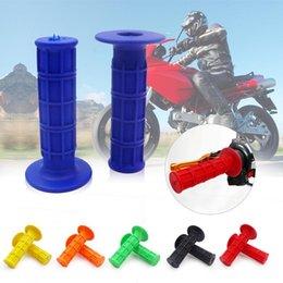 Set 22mm//25mm Black Motorcycle Motorbike Universal Handles Handlebars Grips //35