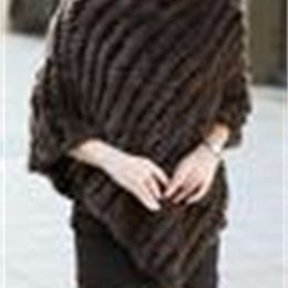 Wholesale knitted rabbit poncho for sale - Group buy Hot Sale Winter Coat Women Ladies Genuine Real Knitted Rabbit Fur Coat Female Fur Pashmina Shawls Poncho B6 CB030406