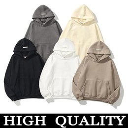 Wholesale 2Official new high quality Mens and womens hoodies Leisure fashion trends fear of god fog essentials men women designer mens tracksuit