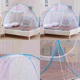 Wholesale Hot Home Travel Outdoor Mosquito Net For Bed Free Installation Bottomed Folding Single Door Netting Single Twin Queen King Size 647 S2