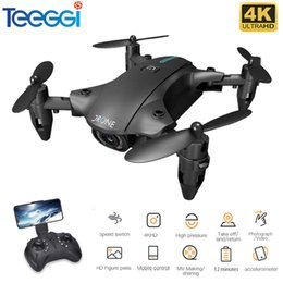 Wholesale Teeggi H2 Mini Drone Wifi Fpv 1080P 4K Hd Camera Hoogte Hold Real-Time Transmission Optional Quadcopter rc Drones Vs E525 Pro