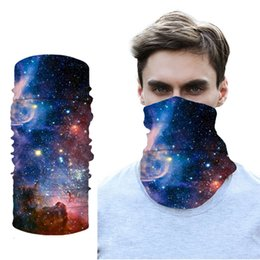 Discount sky cycles 3D Seamless Starry Sky Bandanas Summer Outdoor Sport Headwear bandana Ride Magic Scarf Cycling Halloween
