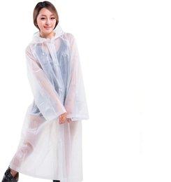 "Wholesale Oxeanus Rain Coats, [1 Pack] EVA Reusable Raincoat Rain Ponchos with Hood and Elastic Cuff Sleeves, Size 57"" by 27.5"""