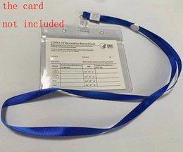 venda por atacado 4 * Protetor de cartão de 3 polegadas PROTECTO À Prova D 'Água Arquivos Para Cartão De Negócios Para Papel CDC Vacination Cartões Clear Protective Cover