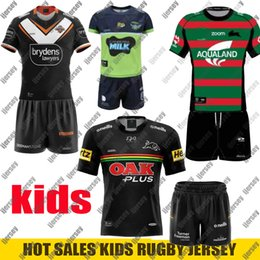 Wholesale WESTS TIGERS Kids Rugby Jersey Brisbane Broncos nrl rugby league jerseys Penrith Panthers CANBERRA Assaulter child jerseys shirts Size: 16-26