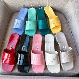 woman slipper fashion lady Sandals Beach Thick bottom Sell Well slippers platform Alphabet Rubber High heel slides shoe02 02 on Sale