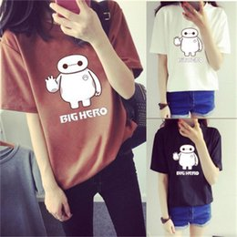 big animal t shirts NZ - 2020 summer new Korean loose size women's big white cartoon short sleeve T-shirt girl student's top and bottom coat