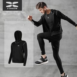 Wholesale mma sweatshirts hoodies resale online - Tracksuits Men Gym Sport Running Training Fitness Hoodies Bodybuilding Sweatshirt Outdoor Sports Clothing Men s Capuchon Mma Dry Fit Jas