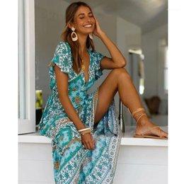 Rabatt Sommer Hippie Maxi Kleid 2021 Im Angebot Auf De Dhgate Com