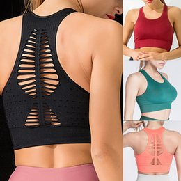 Femmes Lady Seamless Push Up Soutien-gorge Sport Tops Vest Gym Fitness Yoga Running Shaper