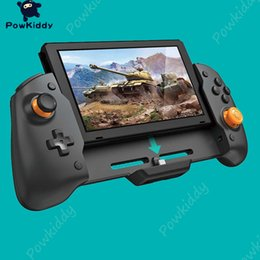 n engines Australia - Powkiddy for n-switch handheld grip controller gamepad twin vibration engine embedded 6 gyroscope design-proof steering axes