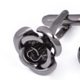 Wholesale Yoursfs Rose Tie Clip Cufflinks Set For Men Valentine's Gift Flower Wedding Tie Bar Cufflinks624 T2