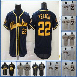 Discount baseball jerseys milwaukee Milwaukee 22 Christian Yelich Jersey Blank No Name No Number Top Quality Mens Womens Youth Baseball Jersey