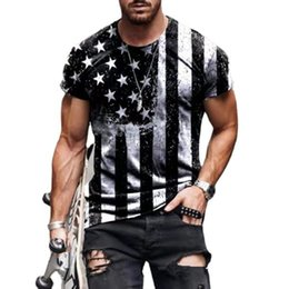 Wholesale Luxury T-shirts 3d Digital Print T-shirt Men's Round Neck Fashion Brand Short Sleeve Mh Top