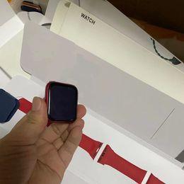 Wholesale Newest 44mm Smart Watch Series 6 Bluetooth 5.0 Wireless Charging with Serial Number Waterproof Wearable Device Heart Rate Blood Pressure Sleep Monitor ECG