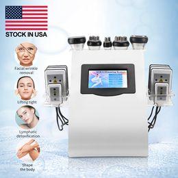Ultrasonic Cavitation Slimming Machine 6 In 1 Lipo Laser Body Vacuum Radio Frequency RF Salon Spa Beauty Equipment Stock In US !!! Diode Lipolaser 8 Pads Burning Fat