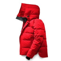 Wholesale canadian coats resale online - Winter Men Down Coat Canadian Casual Handsome Fashion Business Goose Warm Jacket For Mans sizeS XL
