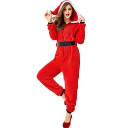 Wholesale superhero costumes woman resale online - New Arrival Santa Claus Costume Cosplay Adult Christmas Costume For Women Santa Claus Dress Up Suit1