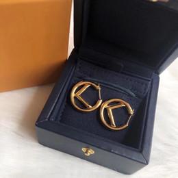 Women Earings Designer Jewelry Designer Accessories F letter Womens Luxurys Designers Earrings Studs Pearl Earrings Boucles 22 2105112L on Sale