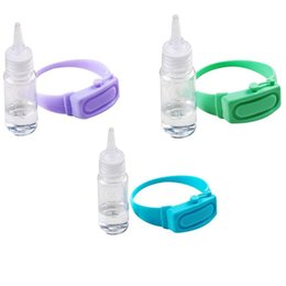 wholesale hand sanitizer dispenser UK - Wristband Hand Dispenser Wearable Sanitizer Pumps Disinfecta Silicone Bracelet Liquid Dispenser50 Soap