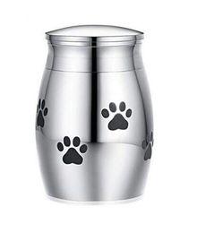 Venta al por mayor de Cajas de gatos Cajas Casas Pequeño urna de cremación para PET Ashes Mini Recuerdo de acero inoxidable Memorial Urns Dogs Holder