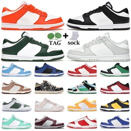 dunk Running Shoes men women dunks low White Black Grey Fog Hyper Cobalt Syracuse UNC Michigan State University Red mens trainers Outdoor sneakers Hiking